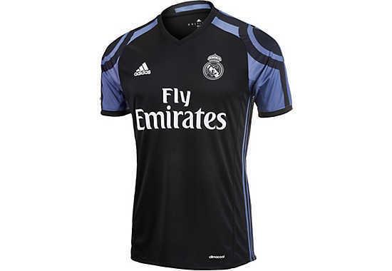 camiseta real madrid negra